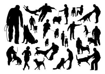 Dog Training Silhouettes Set