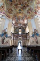 interiors of Pilgrimage Church in Krtiny village