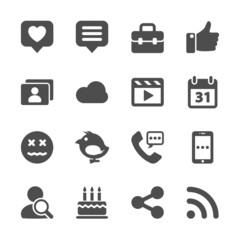 social network icon set, vector eps10