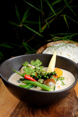 Traditional thai vegetable red curry