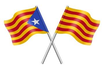 Banderas: Cataluña, Estelada blava y senyera