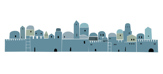 Middle East Town , OLd City, Illustration