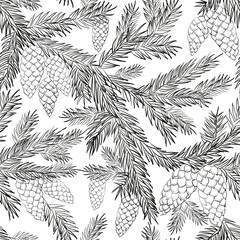 Seamless pattern fur-tree