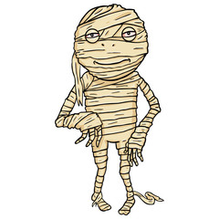 Vector Cartoon Halloween Character - Mummy.