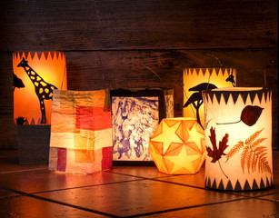 Different handmade lanterns, Sankt Martin