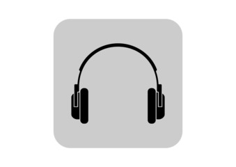 Headphones icon on white background