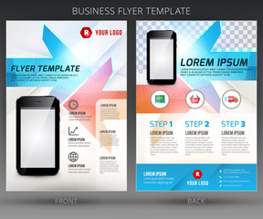 Abstract vector business flyer brochure template