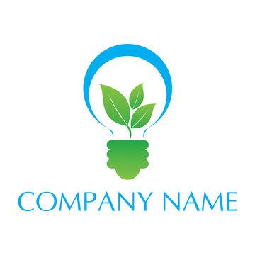 bulb green energy logo