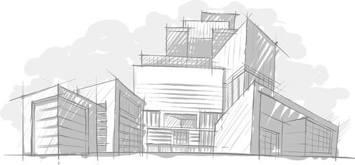 архитектурный эскиз дома