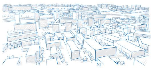 архитектурный рисунок города