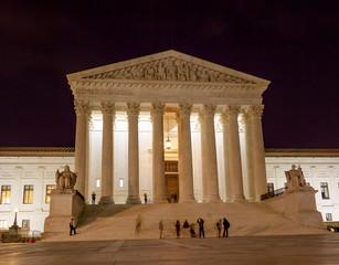 US Supreme Court Night Stars Washington DC