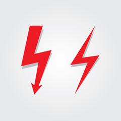 Lightning Bolt icon set