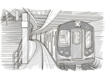 рисунок станции метро