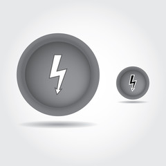 Lightning Bolt icon , Electricity button