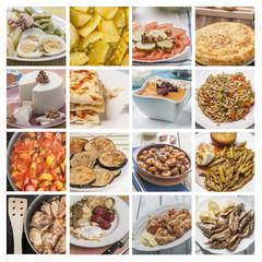 Collage mediterranean cuisine