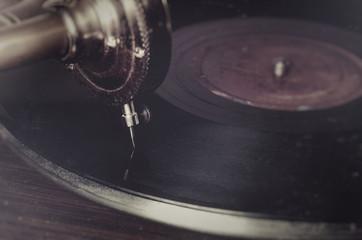 vintage classic gramophone player needle record