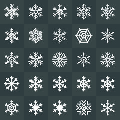 Snowflakes icons collection