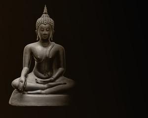 Buddha image made from metal, Dvaravati style, Thailand