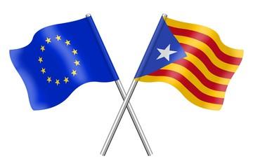 Banderas: Europa y Cataluña, Estelada blava