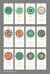 Mini cute calendar 2015 seasons