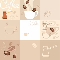 Фон, кофе. Background of coffee.