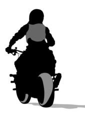 Fototapete - Bike back