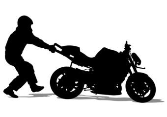 Wall Mural - Stunts moto sport