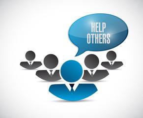 help others team illustration design