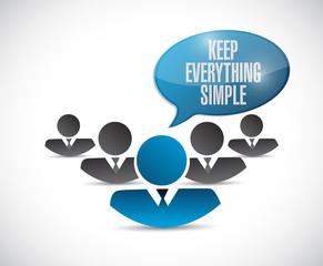 teamwork keep everything simple illustration