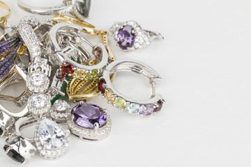 Many fashionable women's jewelry - Stock Image macro.