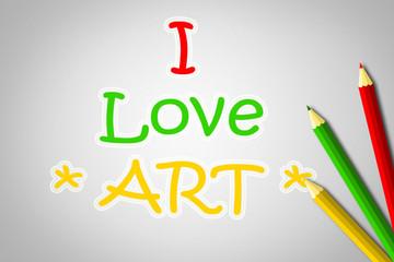 I Love Art Concept