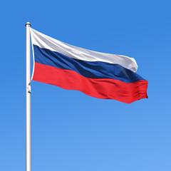 Wehende Flagge von Russland