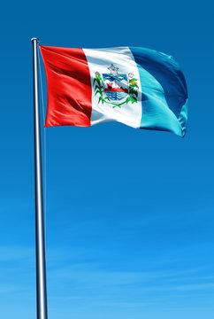 Alagoas (Brazil) flag waving on the wind