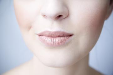 Sensual female lips closeup.