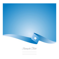 Abstract color background Somali flag vector