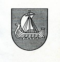 Coat of arms of Kraslava, Latvia ca. 1930