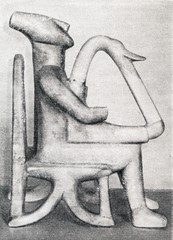Male harp player from Keros, Early Cycladic period
