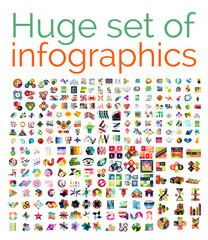 Huge mega set of infographic templates