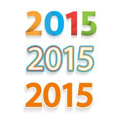 Happy new year 2015 celebration background, banner design
