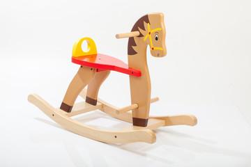 wooden rocking horse. Children toy