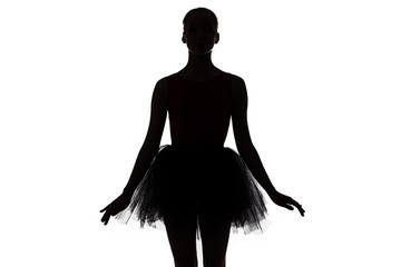 Photo - silhouette of young ballerina