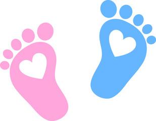 Baby Feet, Footprint, Hearts