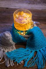 Fototapete - Winter evening with warming tea
