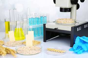 Microbiological testing for food quality at biochemistry