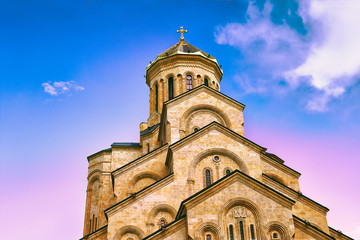 Wall Mural - The Holy Trinity Cathedral Tsminda Sameba in Tbilisi