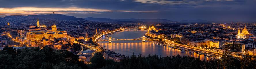 Aluminium Prints Budapest Budapest Panorama by night