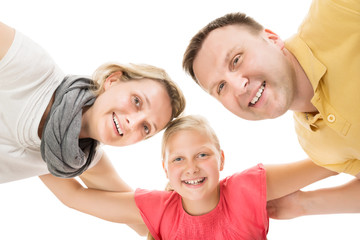 Happy Young Family Together With Kid