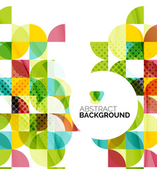 Circle geometric abstract background