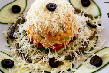 Vegetarian salad.
