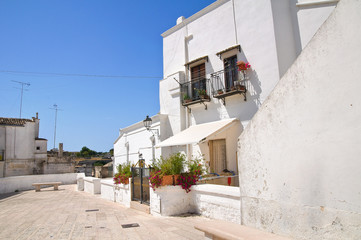 Alleyway. Laterza. Puglia. Italy.